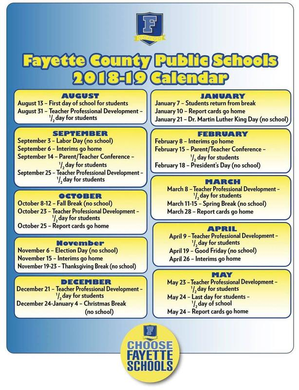 FCPS Calendar At-A-Glance Thumbnail Image