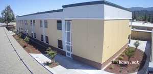 leigh high school's new two-story classroom building