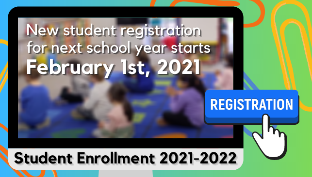 New Student Registration for 2021-2022 Starts February 1st Featured Photo