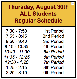 MLHS All Students First Day 8-30