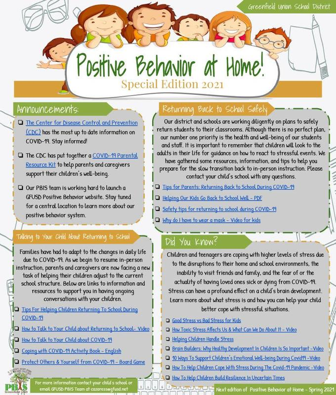 Positive Behavior at Home Thumbnail Image