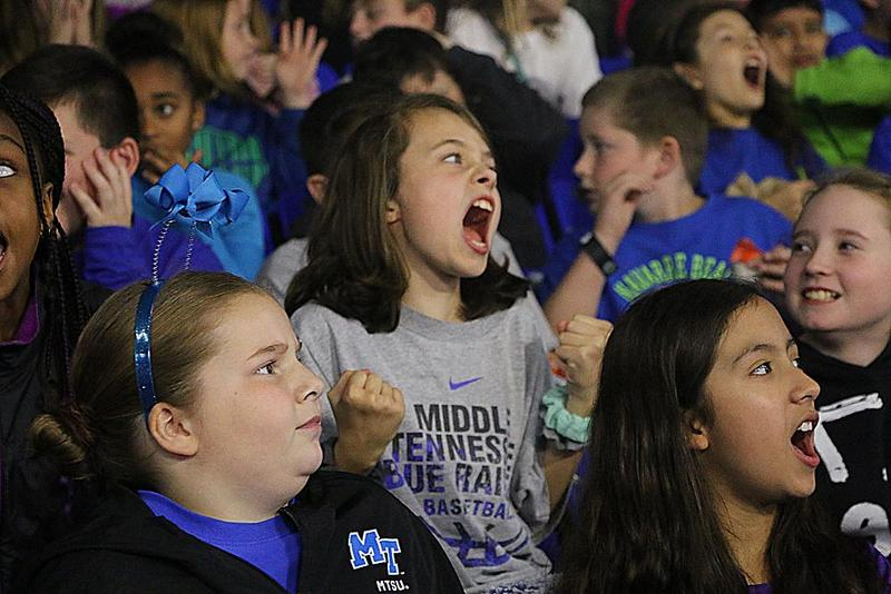 MTSU hosts RCS students for Education Day basketball game Thumbnail Image