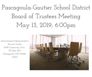 PGSD Board Meeting May 13, 2019