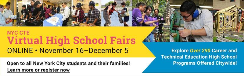 Virtual High School Fairs Banner