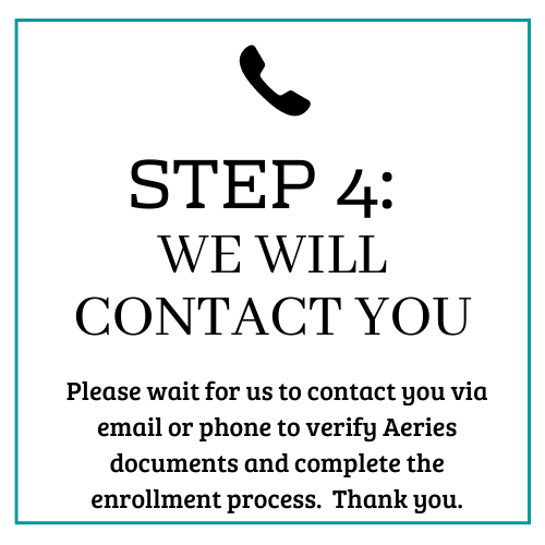 Step 4: we will contact you