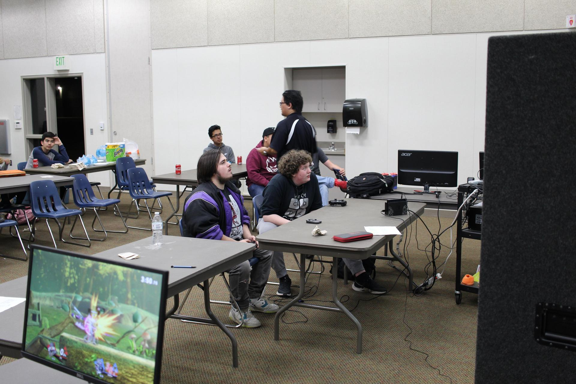 students having fun at the multi player tournament