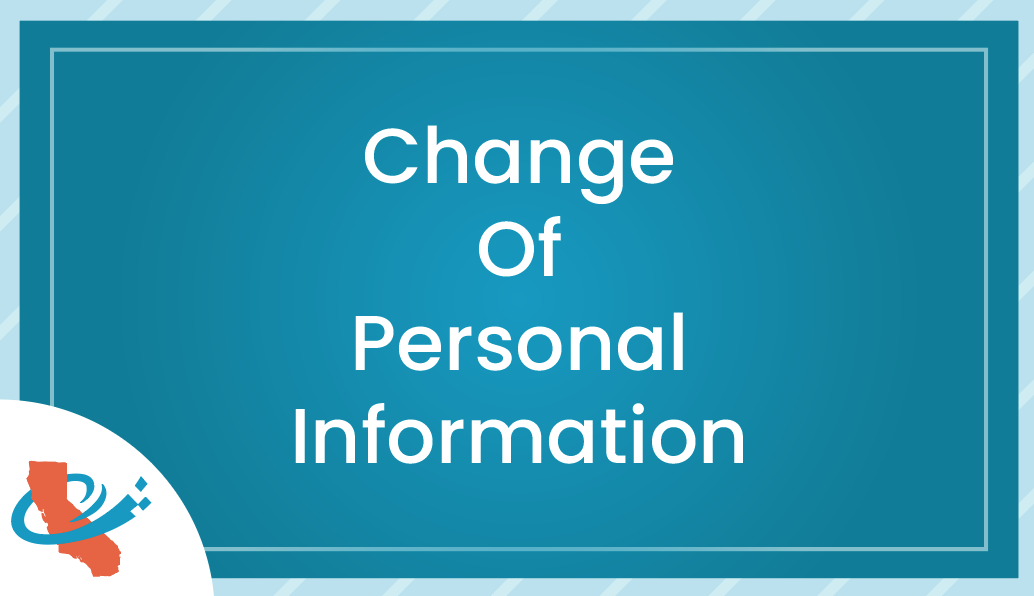 Change of Personal Information