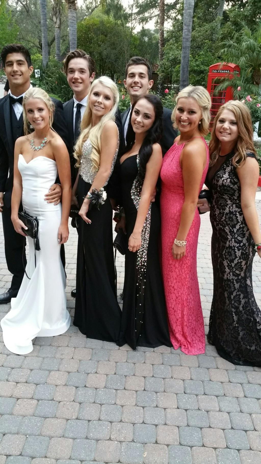 Students at prom