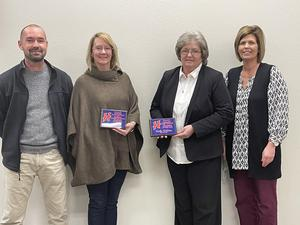 Curtis Black, Principal; Karen Woods; Vickie DeVore; Gayla Youngblood
