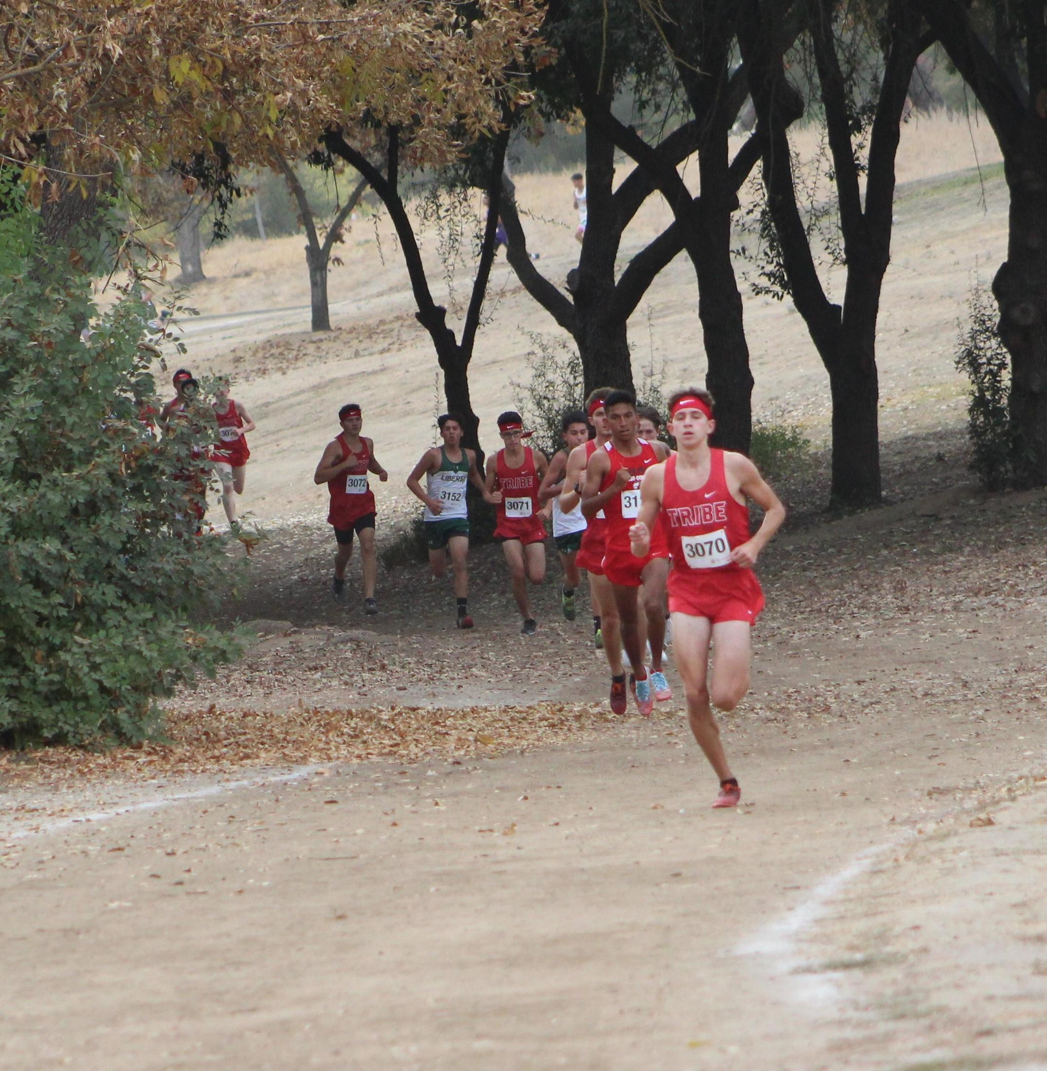 Connor Borba leads the race