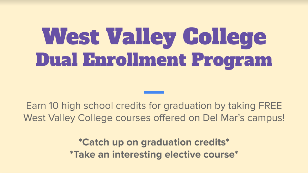 image of west valley dual enrollment application flyer1