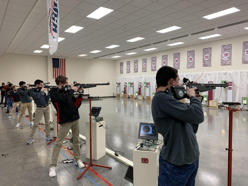 SCHS air rifle team at state competition