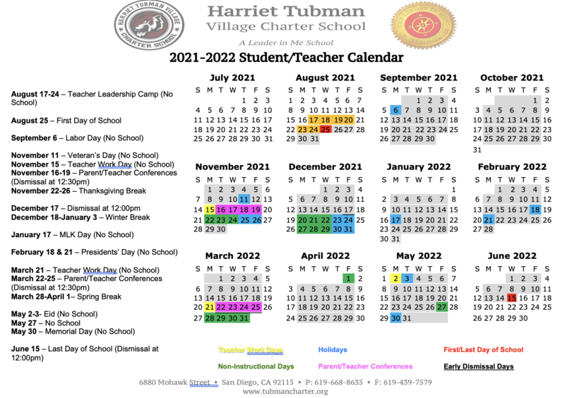 NEW 2021-22 School Calendar Featured Photo