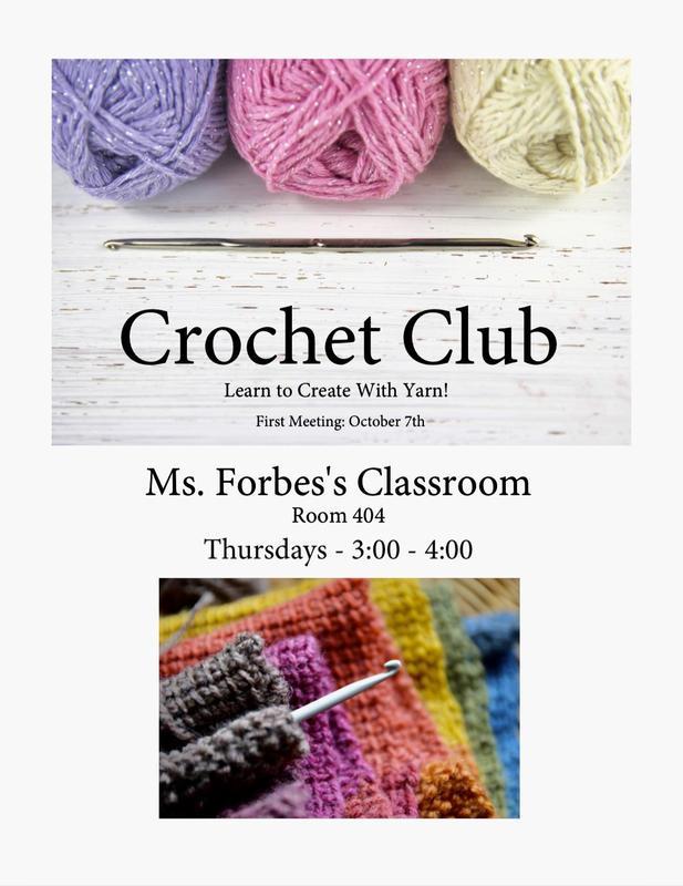 Crochet Club room 404 Legacy Preparatory Academy, best elementary school near me, we love Legacy Prep, LPA is the best junior high