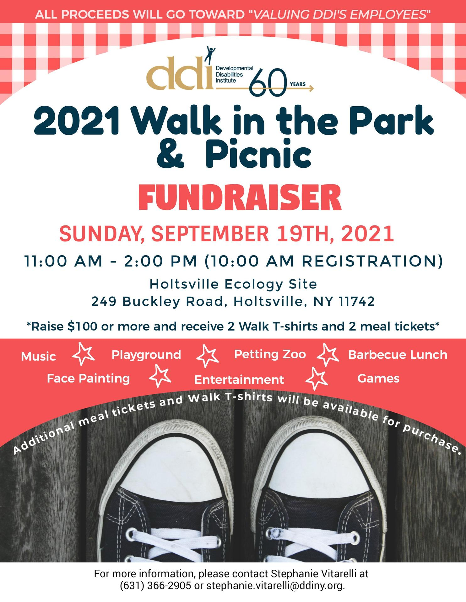 2021 Walk in the Park and Picnic flyer