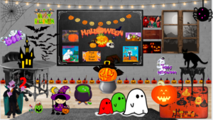 Virtual Halloween room