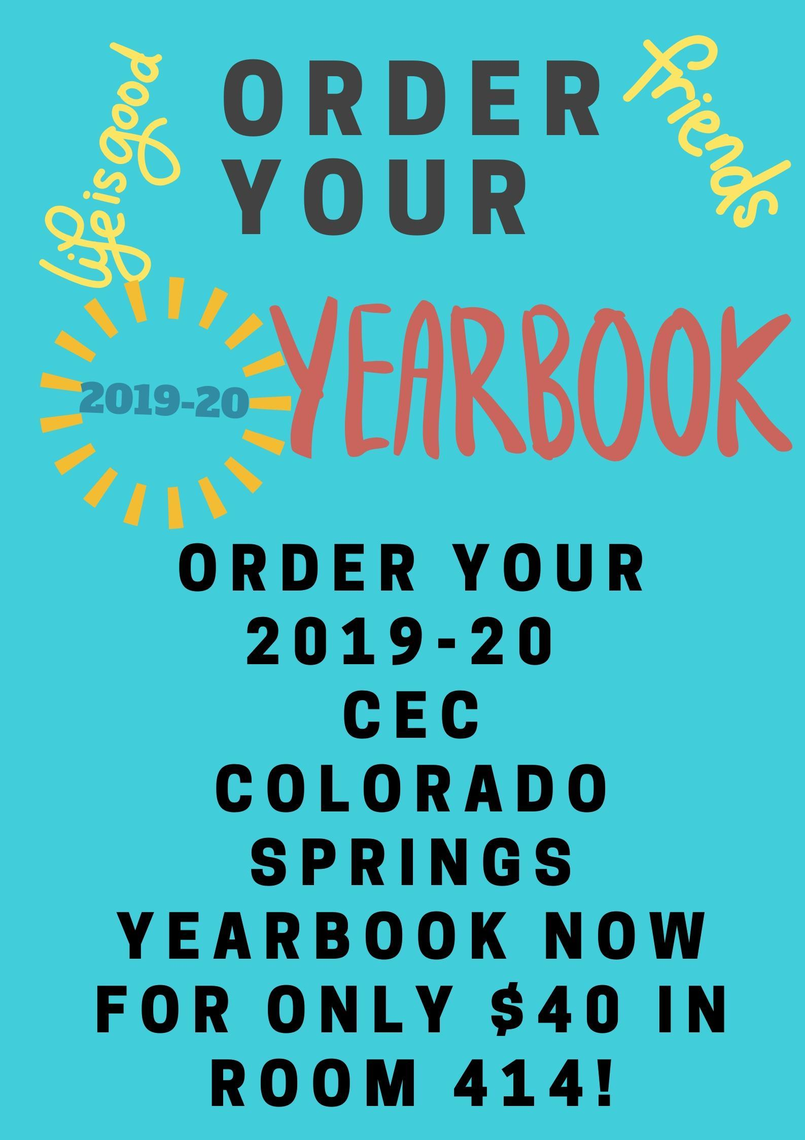 Purchase your yearbook for only $40