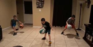 brothers dribbling