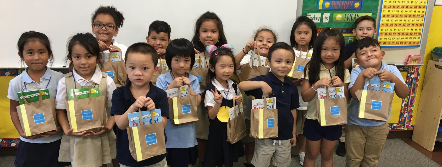 Northrup students receive goodies