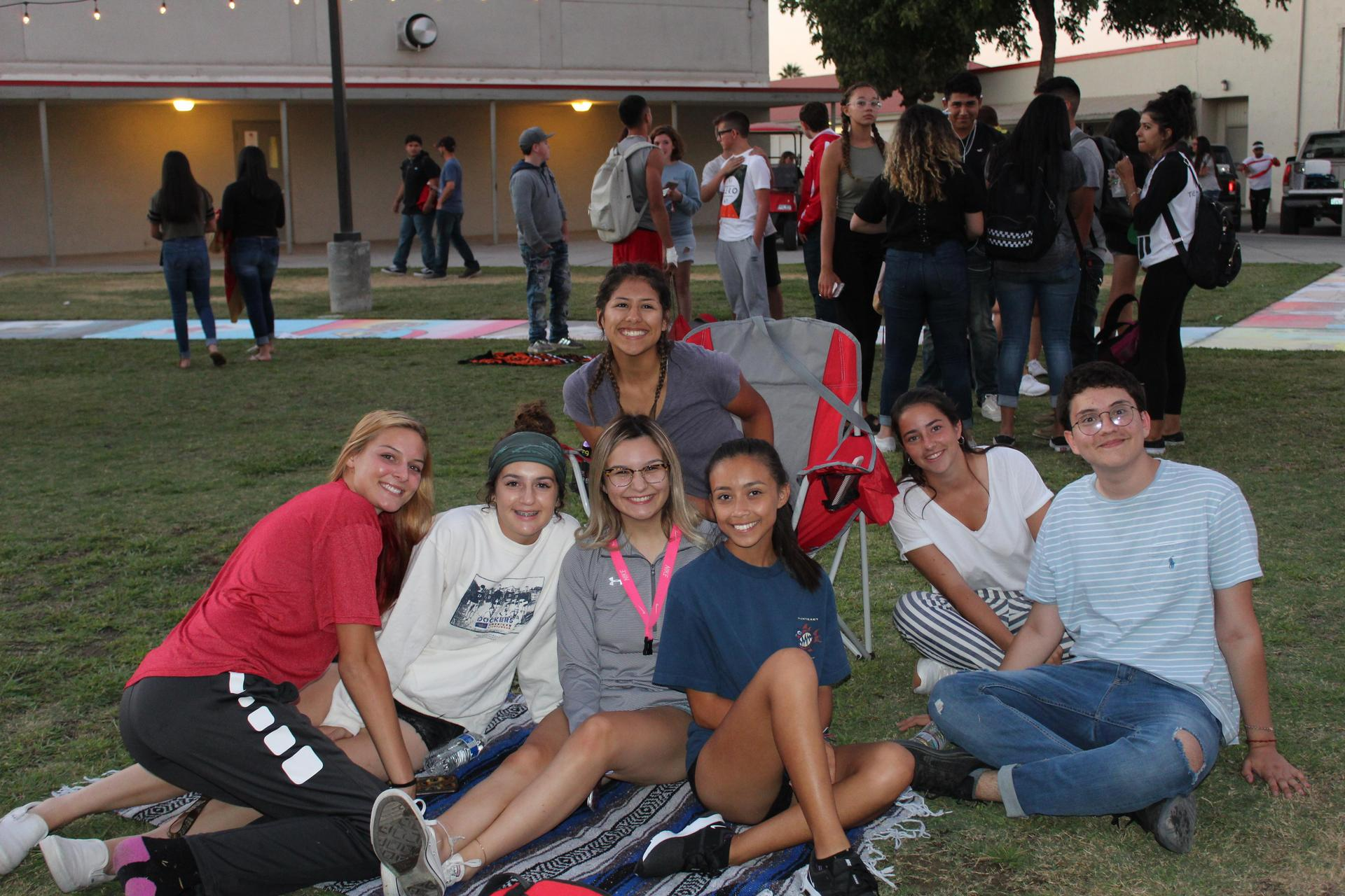 Students having fun at Mr. Tailgate