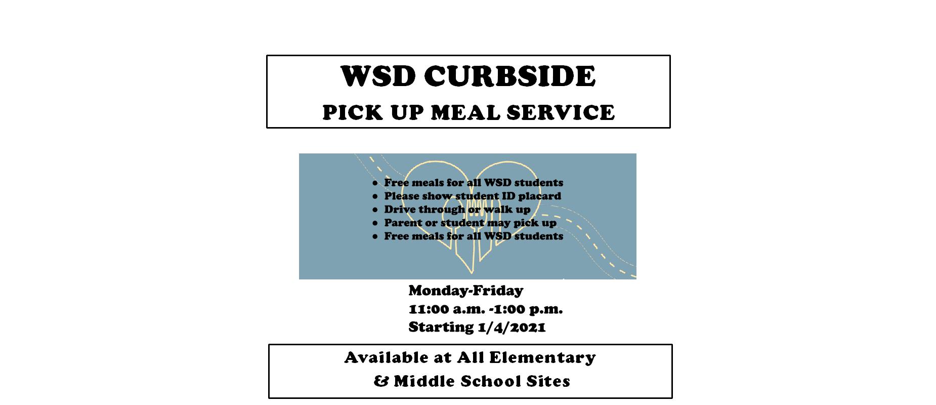 WSD Curbside Meal Pickup Service