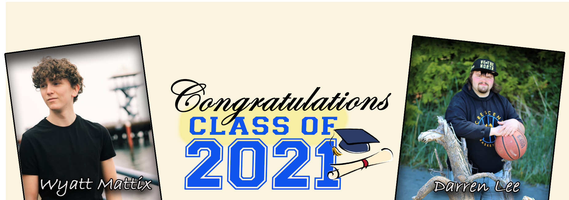 Class of 2021: W.Mattix and D.Lee