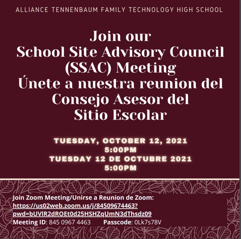 School Site Advisory Council (SSAC) Thumbnail Image