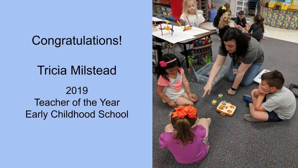 Tricia Milstead LEC Teacher of the Year