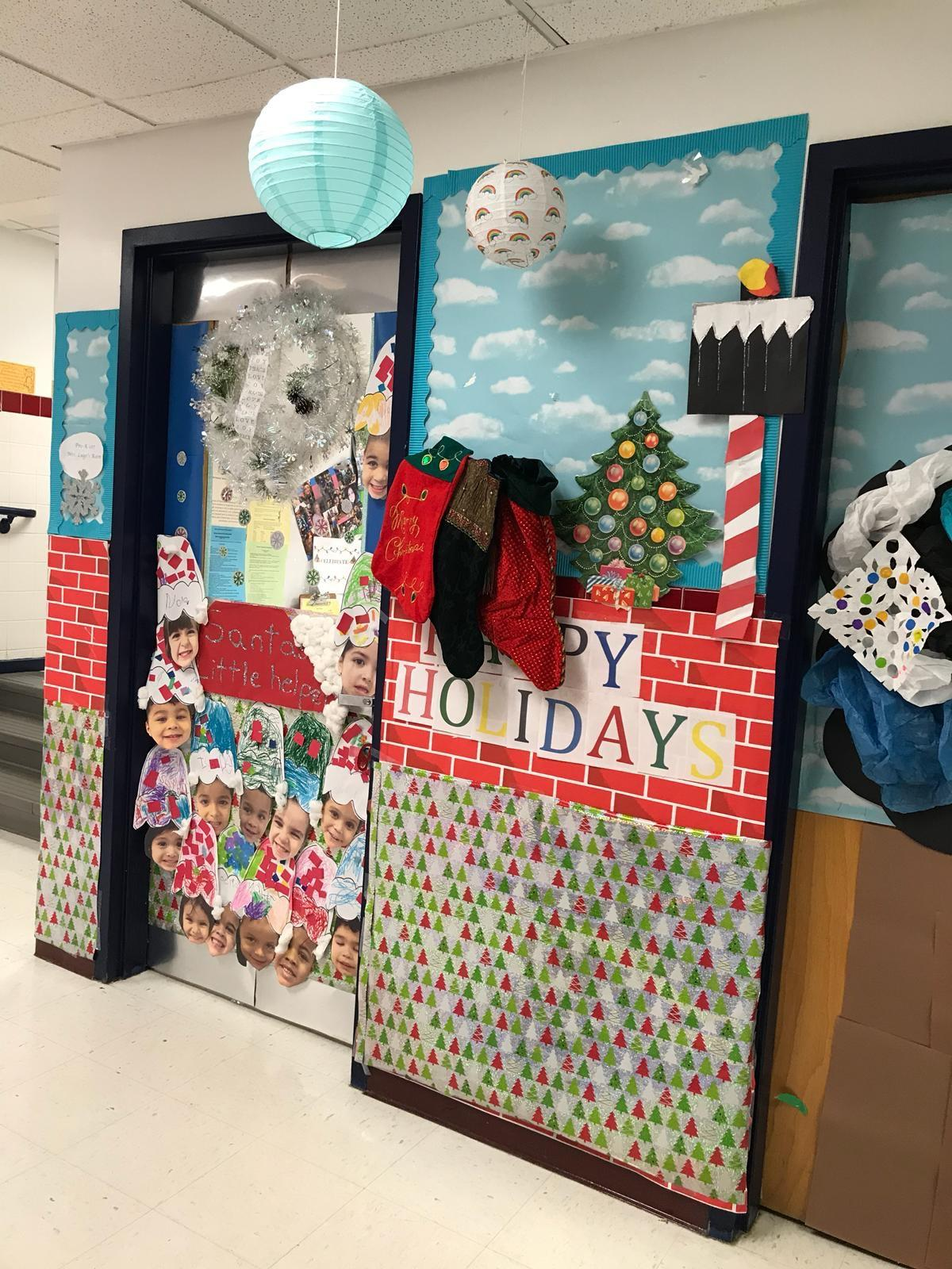 christmas doorway and hallway decor