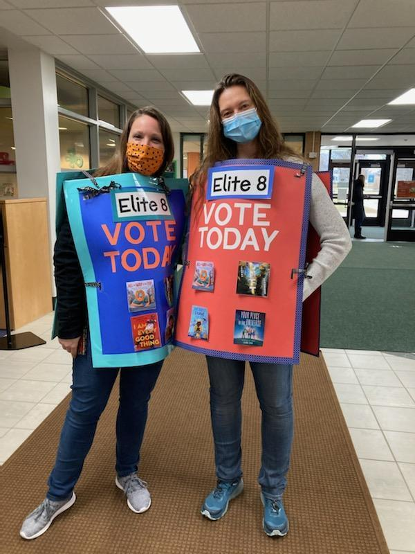Lee staff help promote the book voting.