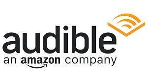 Audible Books logo with line graphic indicating sound