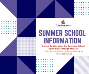 summer school registration information