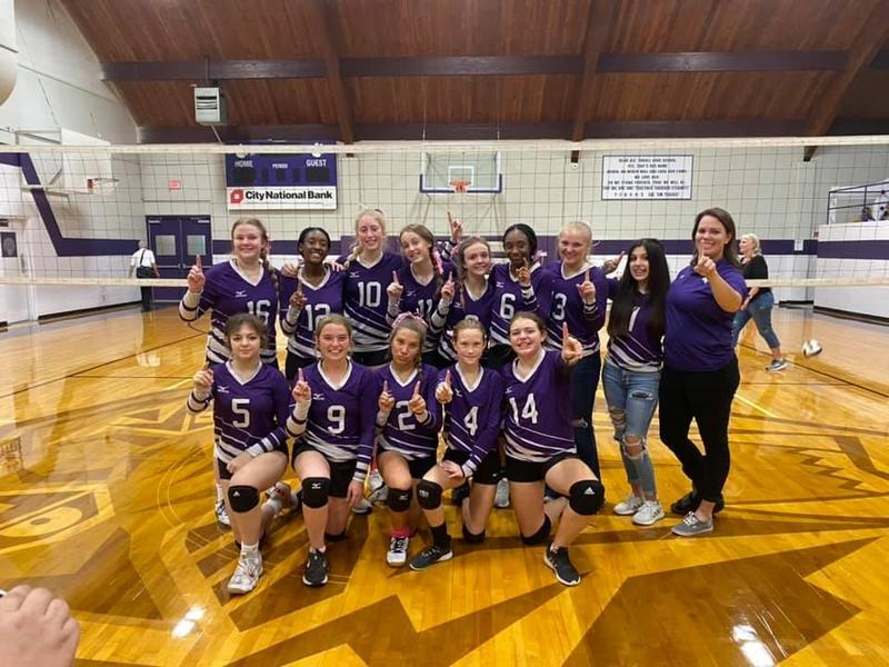 Tigerette Volleyball Teams Take District Championships! Thumbnail Image