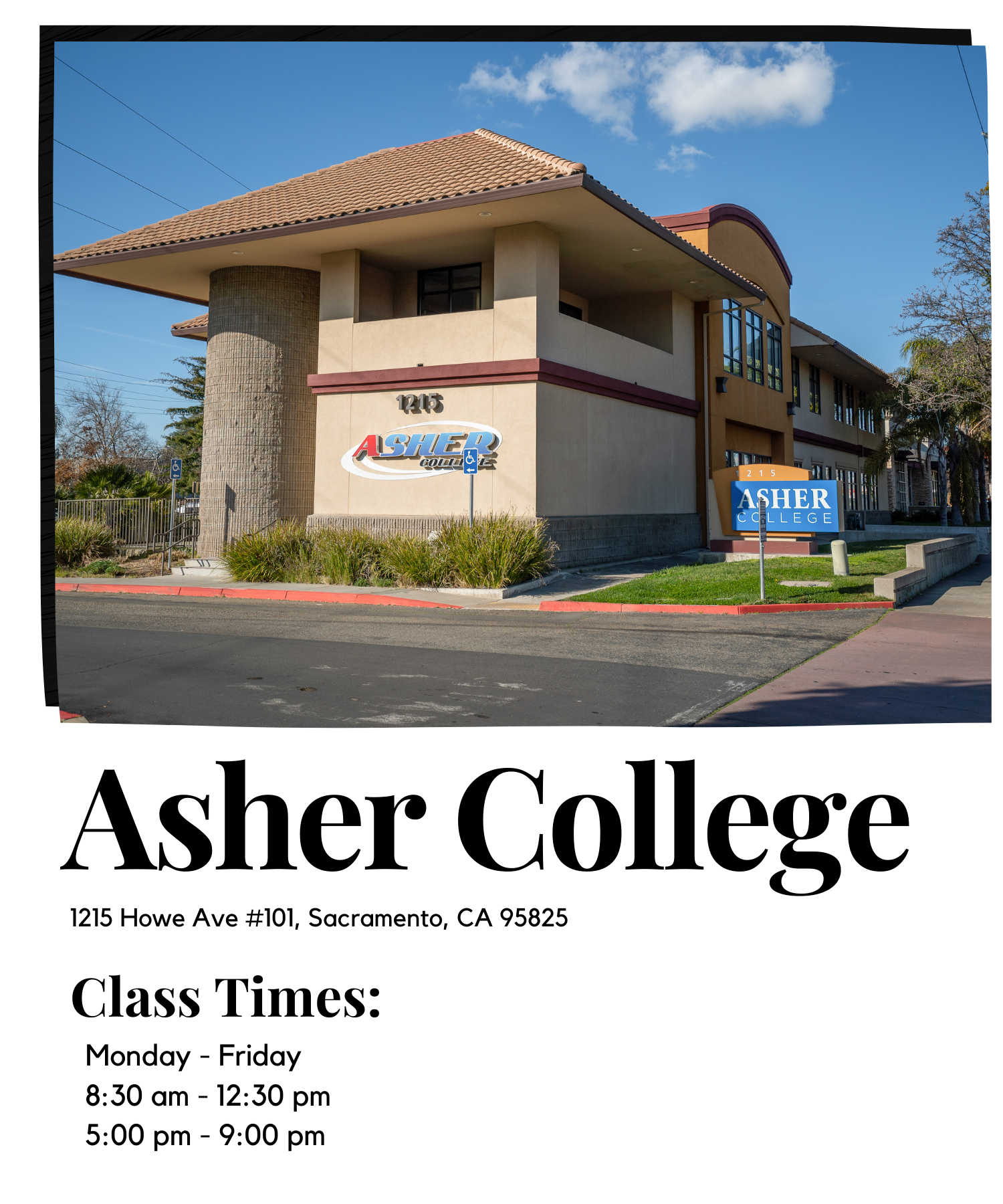 Asher College times