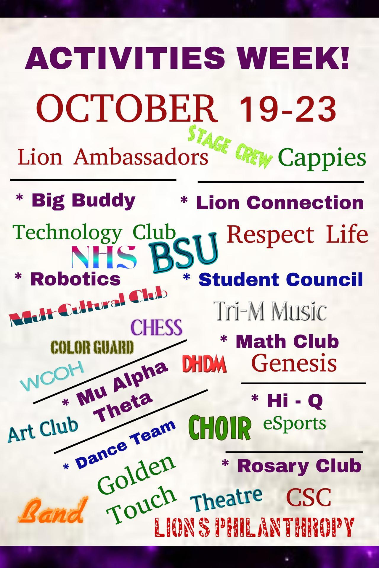 Activities Week