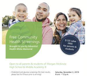 Free Community Health Screenings