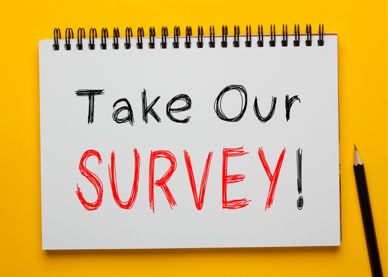 Notebook says take our survey