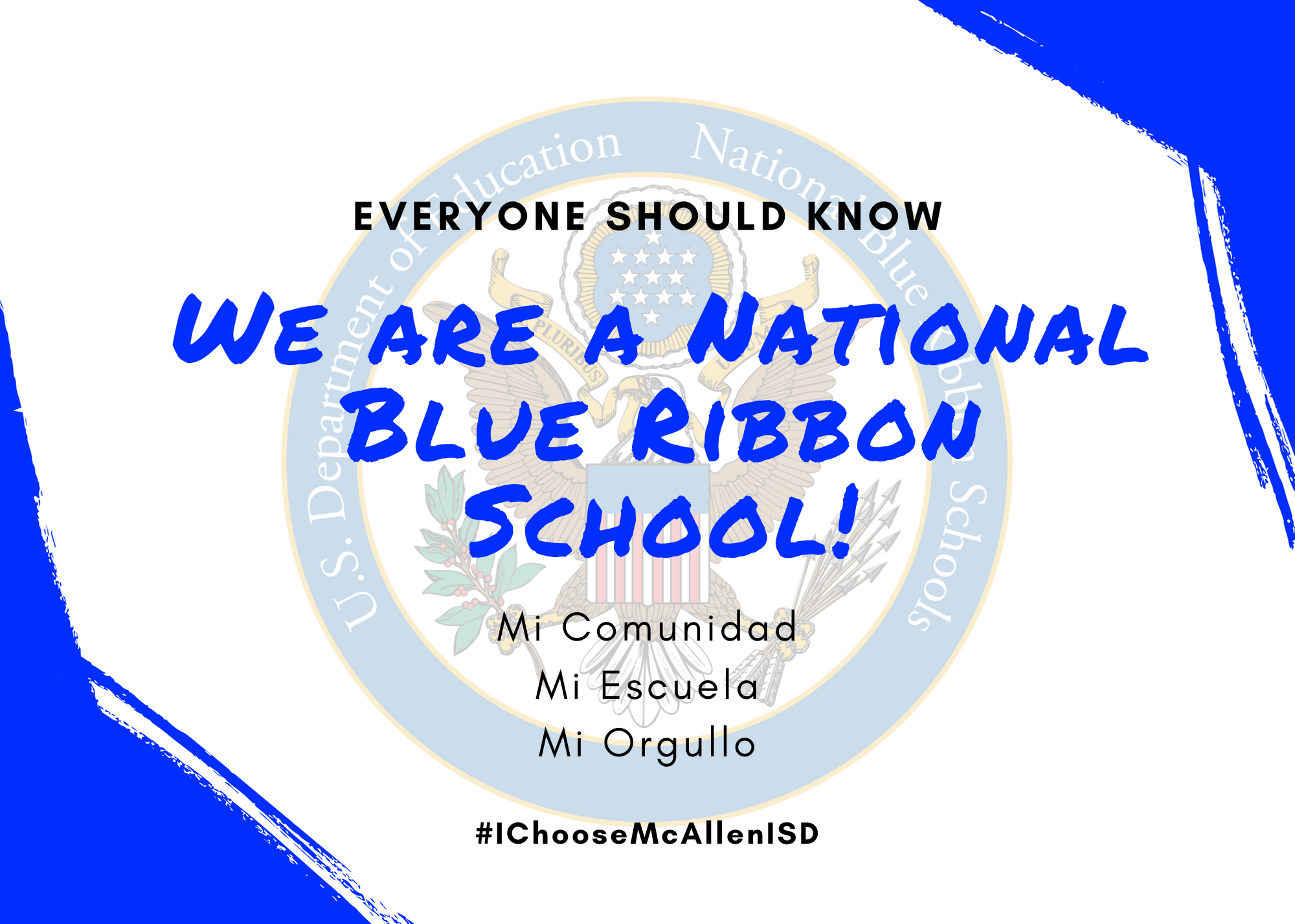 We are a National Blue Ribbon School! Image