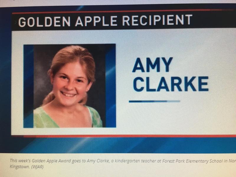 Congratulations Mrs. Amy Clarke Golden Apple Teacher! Featured Photo