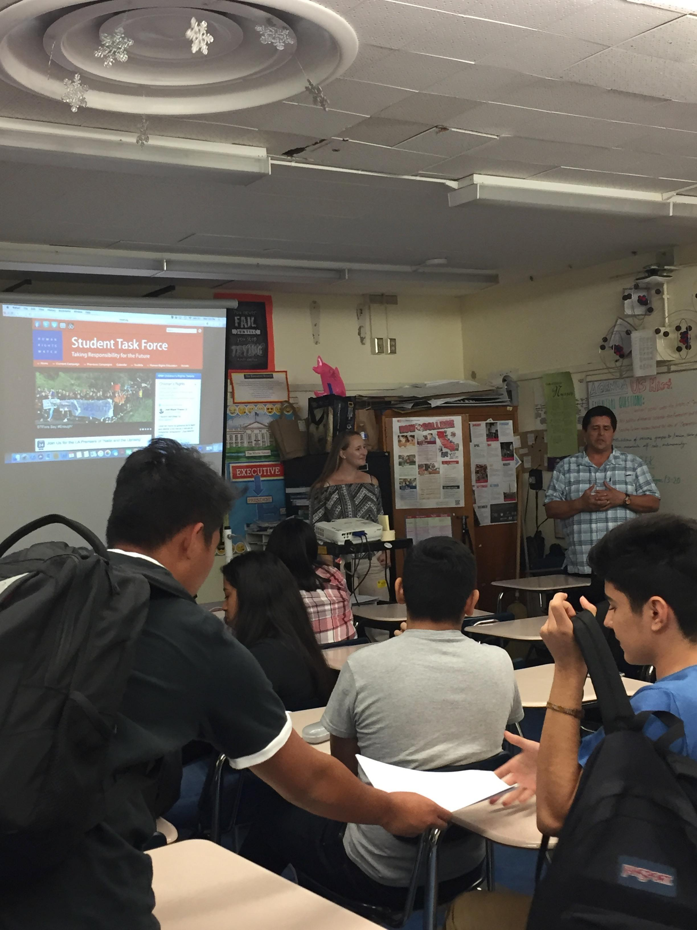 AMA & CARSON H. S. STUDENTS CARE ABOUT HUMAN RIGHTS ISSUES