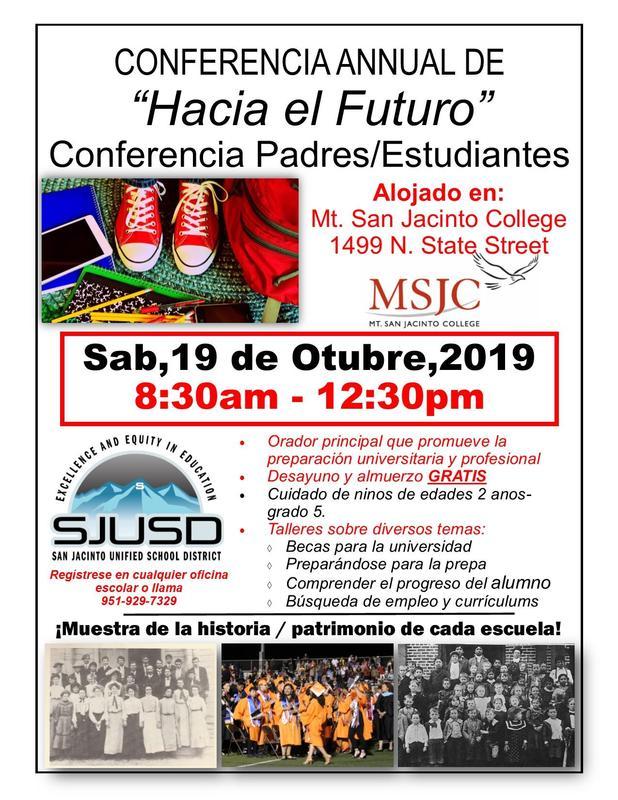 Event flyer, spanish