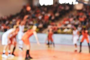 Blurry picture of basketball court