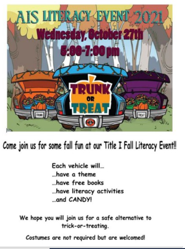 Trunk or Treat!: AIS Literacy Event Thumbnail Image