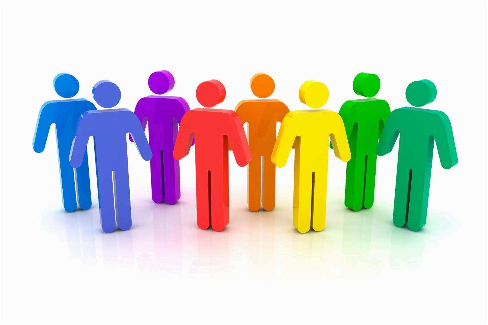 rainbow group of people
