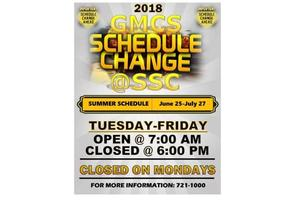 Summer Schedule Change for GMCS Central Office