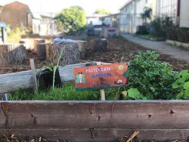 Hesperian Garden Sign
