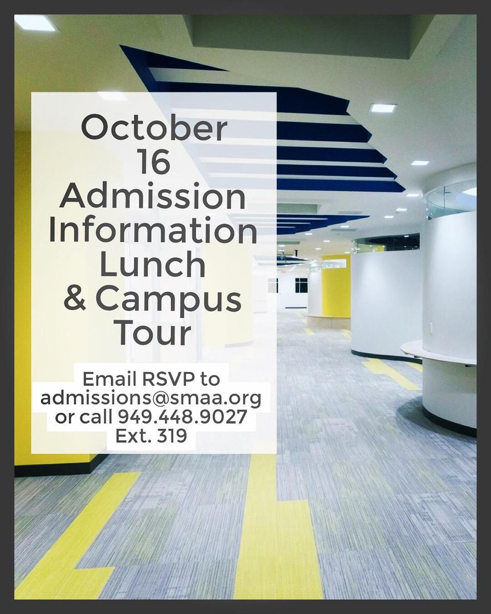 Admission Information Lunch ad