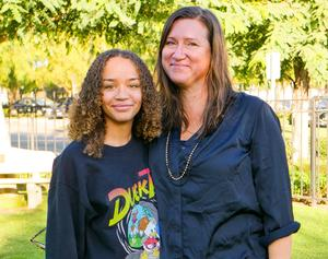 Naya Stroud and her mother