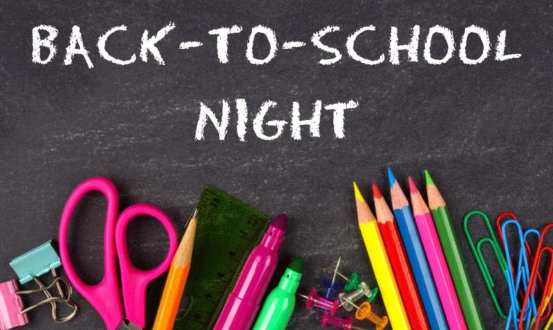 Back To School Night- Thursday, September 16 Featured Photo