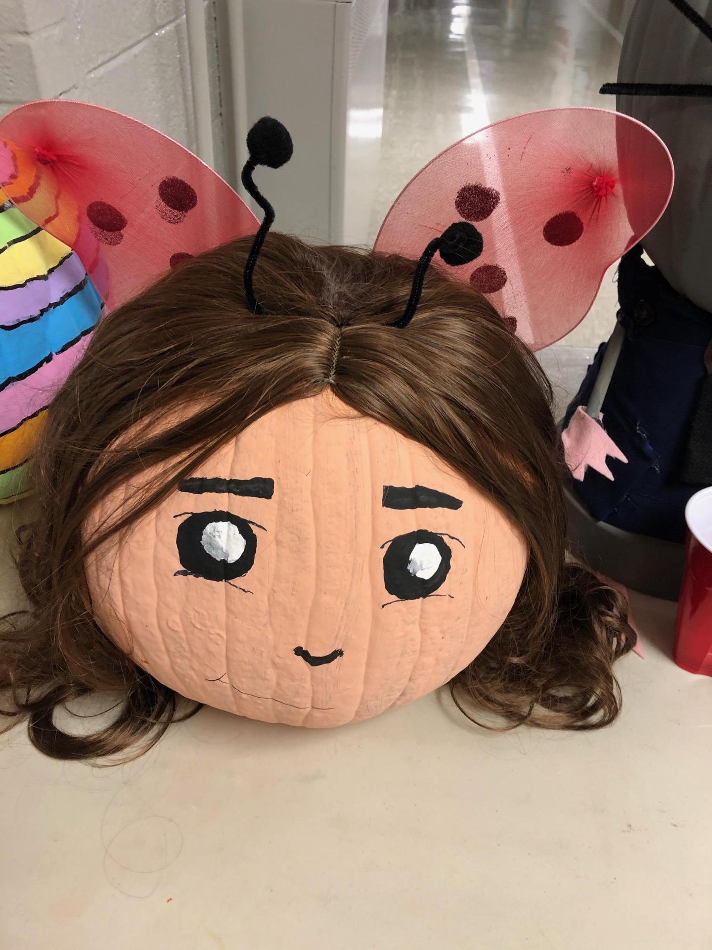 Ladybug Girl pumpkin